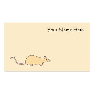 Pet Rat. Fawn. Business Card