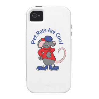 PET RATS ARE COOL VIBE iPhone 4 COVERS