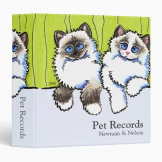 Pet Records Ragdolls Off-Leash Art™ Organization Binders
