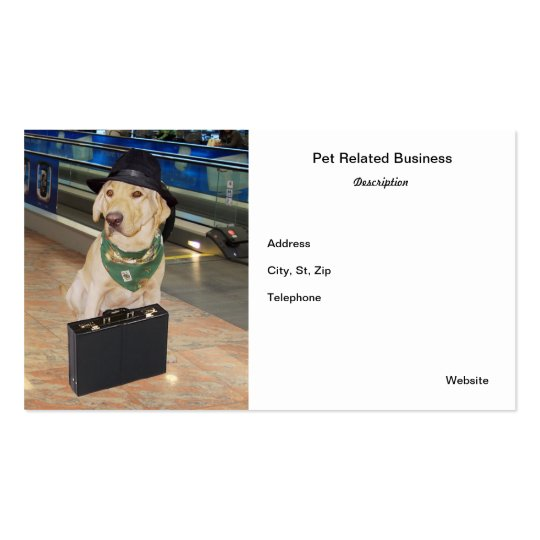 Pet Related Business Card