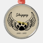 Pet Remembrance Ceramic Christmas Ornament