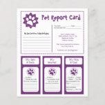 """Pet Report Cards<br><div class=""""desc"""">These adorable pet report cards for dog groomers can be personalized to fit your needs.</div>"""