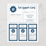 """Pet Report Cards - Blue<br><div class=""""desc"""">These adorable pet report cards for dog groomers can be personalized to fit your needs.</div>"""