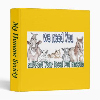 Pet Rescue 3 Ring Binder