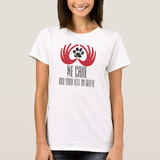 Pet Rescue / Adoption - Heart in Hands - We Care T-Shirt