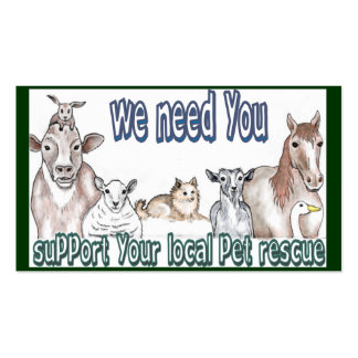 Pet Rescue Double-Sided Standard Business Cards (Pack Of 100)