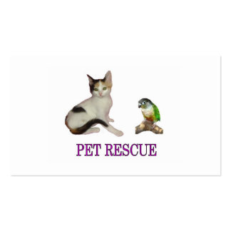 Pet Rescue Business Card