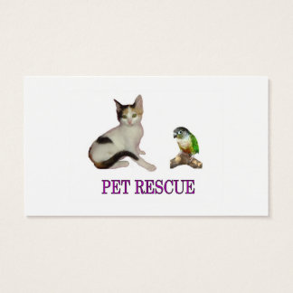 Pet Rescue Business Card