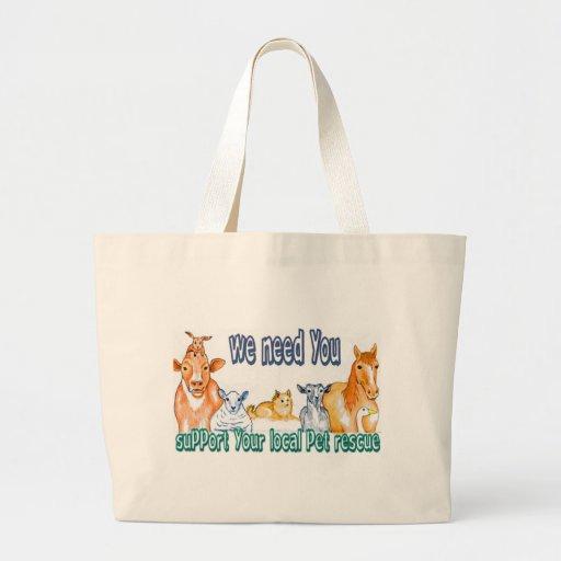 Pet Rescue Canvas Bags