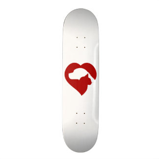 Pet Rescue Cat and Dog Red Heart of Love Skateboard Deck