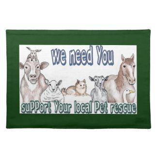 Pet Rescue Cloth Placemat