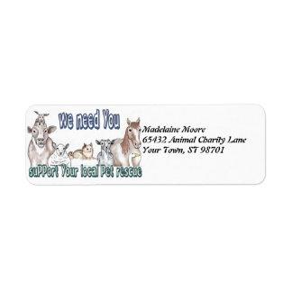 Pet Rescue Custom Return Address Labels