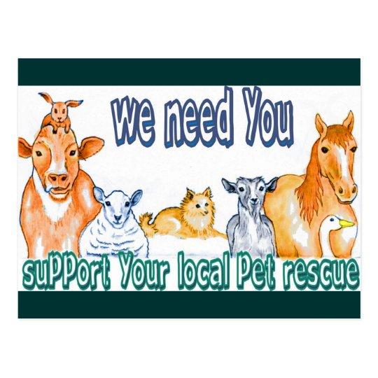 Pet Rescue Postcard