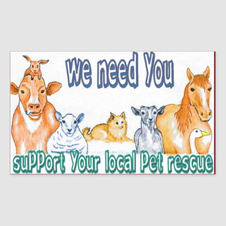 Pet Rescue Rectangle Stickers