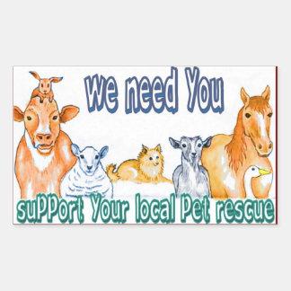 Pet Rescue Rectangular Sticker