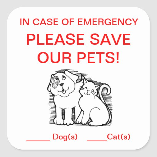 Pet Rescue Sticker