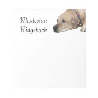 Pet Rhodesian Ridgeback Dog Picture Notepad