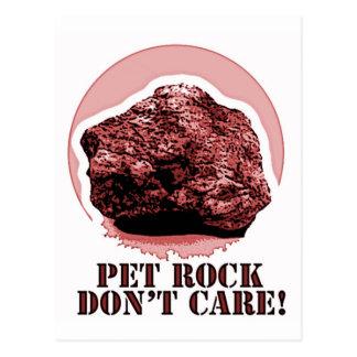 PET ROCK DON'T CARE! Honey Badger spoof Postcard