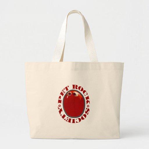 PET ROCK SOCIETY FUNNY KITSCH  1970'S JUMBO TOTE BAG