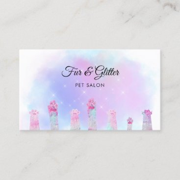 pet salon fabulous furry paws business card