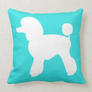 Pet Salon Spa Decor Poodle Aqua Pillow