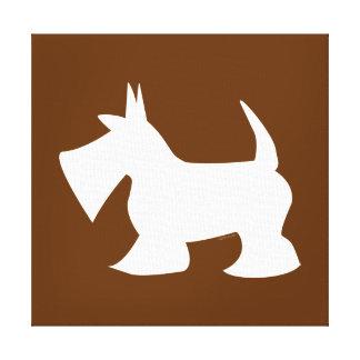 Pet Salon Spa Decor Scottie Silhouette Chocolate