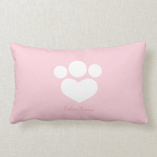 Pet Salon Spa Groomer Personalized Baby Pink Lumbar Pillow