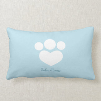 Pet Salon Spa Groomer Personalized Sky Blue Lumbar Pillow