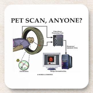 PET Scan, Anyone? (Positron Emission Tomography) Beverage Coaster