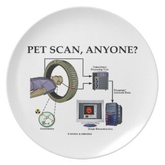 PET Scan, Anyone? (Positron Emission Tomography) Dinner Plate