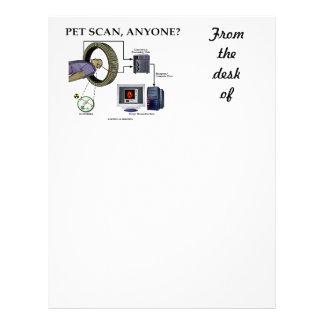 PET Scan, Anyone? (Positron Emission Tomography) Letterhead