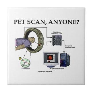 PET Scan, Anyone? (Positron Emission Tomography) Ceramic Tiles