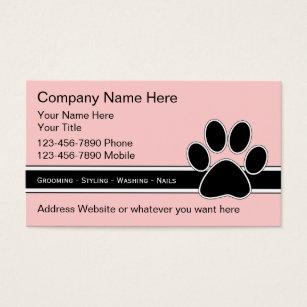 Pet business cards templates zazzle pet service business cards colourmoves