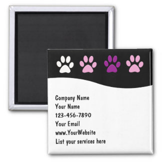 Pet Service Business Magnets