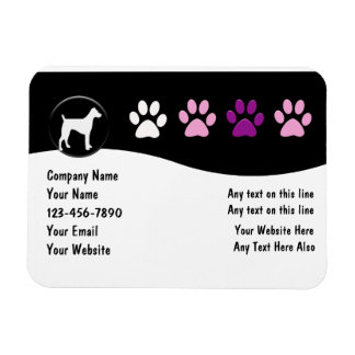 Pet Service Large Business Magnets