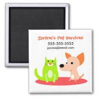 Pet Services Promotional Magnet