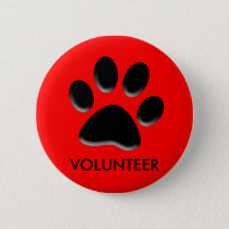 pet shelter, animal rescue, volunteer ID badge,pin Button