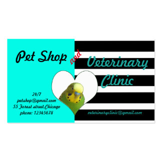 Pet shop and veterinary clinic business card