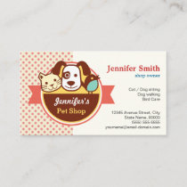 Pet Shop - Cute Polka Dots Business Card
