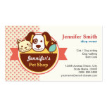 Pet Shop - Cute Polka Dots Double-Sided Standard Business Cards (Pack Of 100)