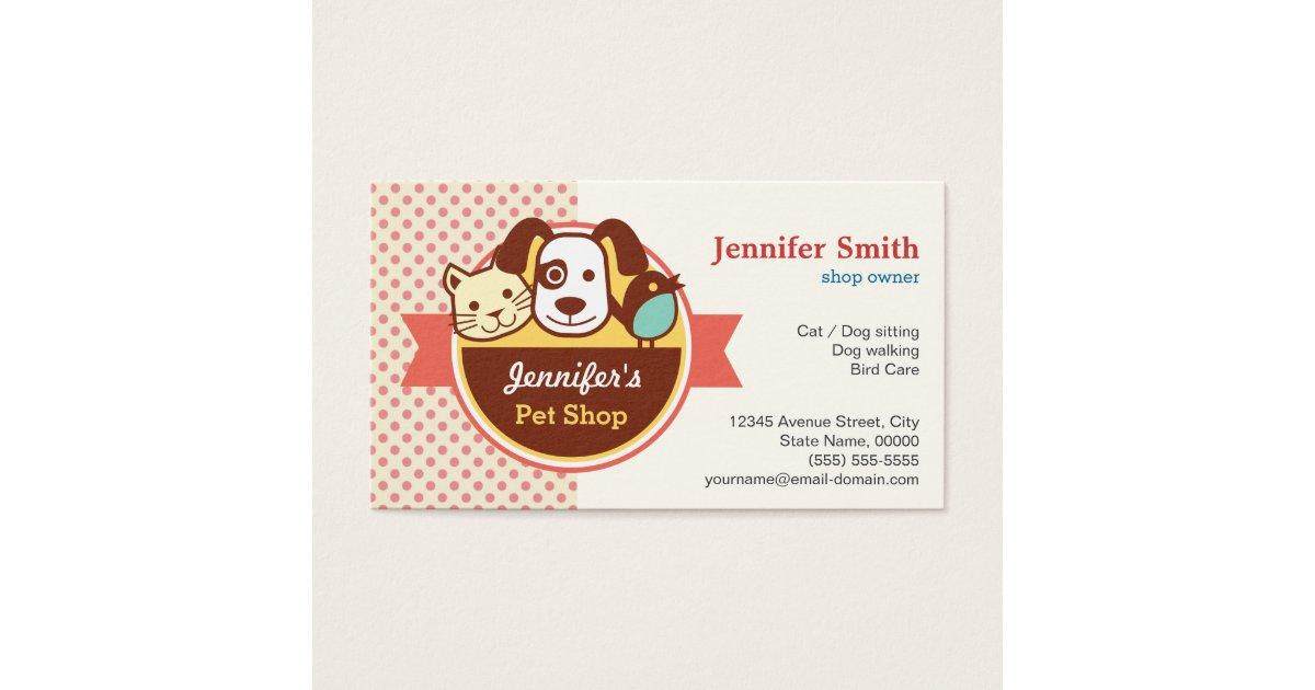 Pet Shop Business Cards & Templates | Zazzle
