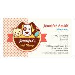 Pet Shop - Cute Polka Dots Business Cards