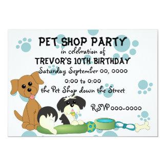 Pet Shop Party Card