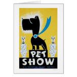 Pet Show Dog Cat 1937 WPA Card