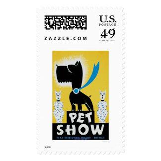 Pet Show Dog Cat 1937 WPA Stamps