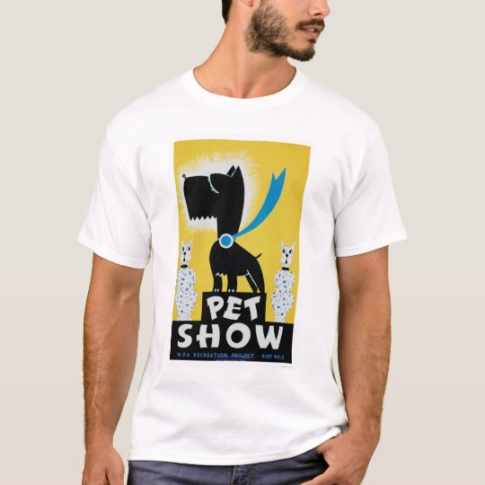 Pet Show Dog Cat 1937 WPA T-Shirt