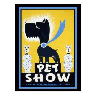 Pet Show Post Card