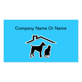 Pet Silhouette Business Cards