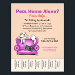 """Pet Sitter Ad White Dog Mod Couch Tear Sheet<br><div class=""""desc"""">Click Read More to see coordinating products. Promote your pet sitting business with these full color eye-catching flyers that you personalize with your own info. Original design by Andie, illustrator and creator of Off-Leash Art™, featuring her hand drawn Bedlington Terrier illustration. To change the background color, click the orange &quot;customize...</div>"""