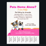 "Pet Sitter Ad Yorkie Cat Couch Pink Tear Sheet<br><div class=""desc"">Click Read More to see coordinating products. Promote your pet sitting business with these full color eye-catching flyers that you personalize with your own info. Original design by Andie, illustrator and creator of Off-Leash Art™, featuring her hand drawn Biewer Yorkie and Ragdoll illustration on bright pink couch. To change the...</div>"